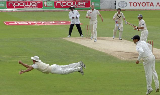 Most Iconic Sports Photos Andrew Strauss - 4th Test England vs. Australia, Ashes 2005
