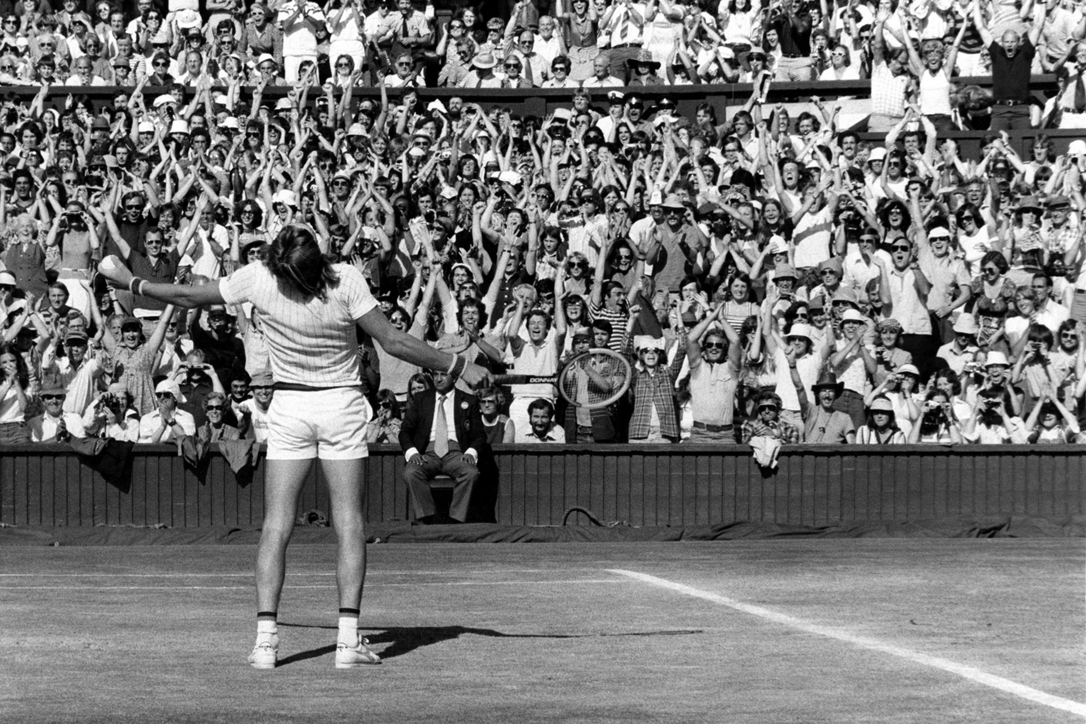 Most Iconic Sports Photos Björn Borg - Final of the 1977 Wimbledon Championships