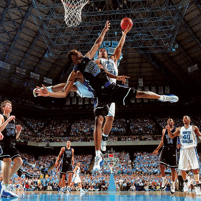 Most Iconic Sports Photos Casey Sanders and Julius Peppers - Chapel Hill, N.C., March 4, 2001