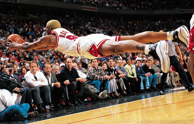 Most Iconic Sports Photos Dennis Rodman - Pacers at Bulls, March 7, 1997