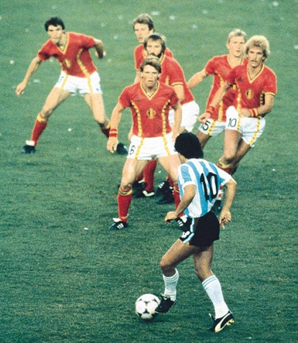 Most Iconic Sports Photos Diego Maradona - World Cup, 13 June 1982 in Barcelona
