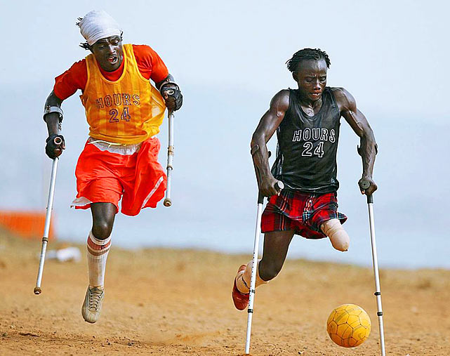 Most Iconic Sports Photos Maxwell Fornah and Victor Musa - Sierra Leone, April 6, 2006