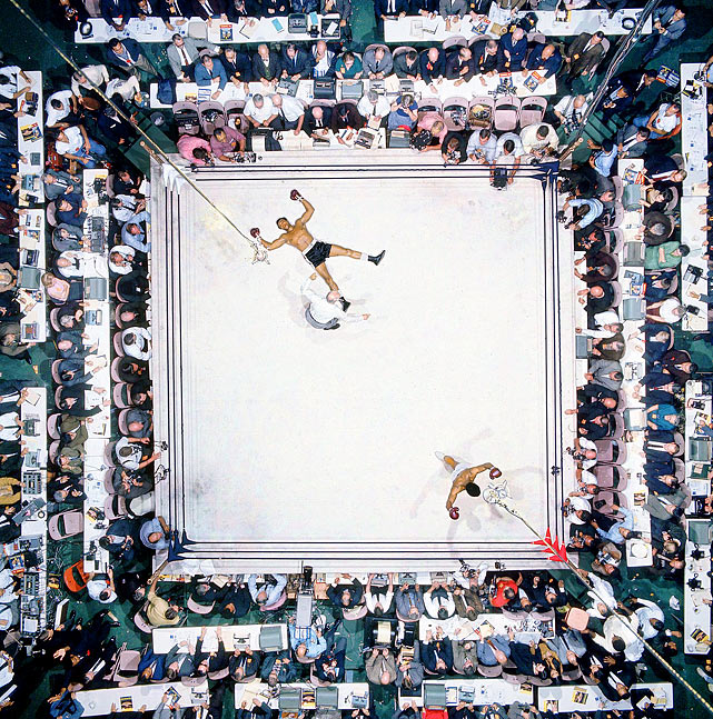 Most Iconic Sports Photos Muhammad Ali and Cleveland Williams - Nov. 14, 1966