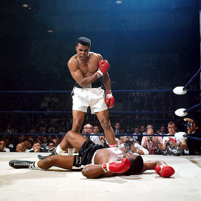 Most Iconic Sports Photos Muhammad Ali and Sonny Liston - May 25, 1965