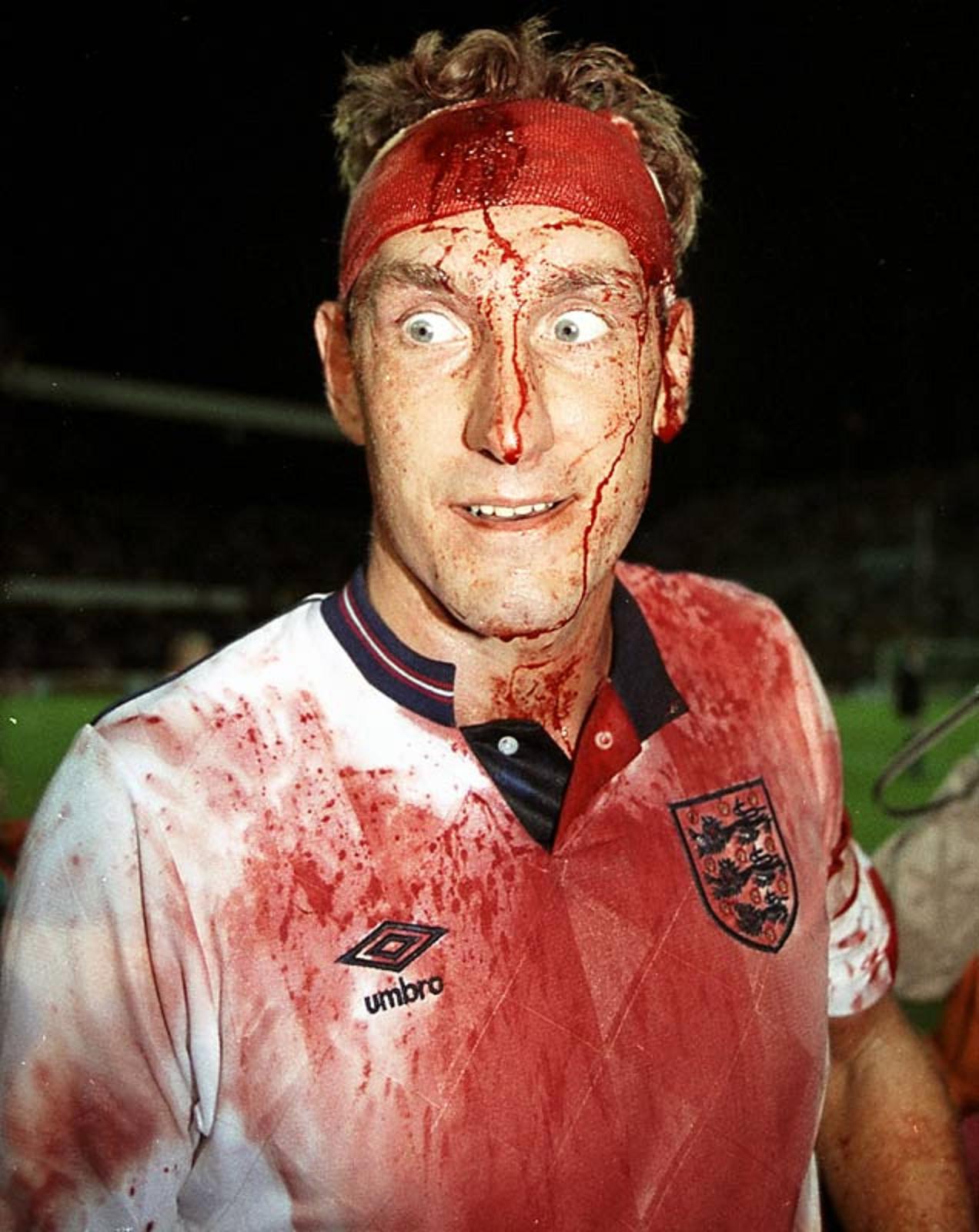 Terry Butcher- World Cup Qualfier Sweden vs England, 6 September 1989, Råsunda Stadium Stockholm
