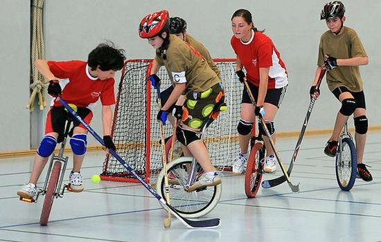 unicycle hockey Weird Sports