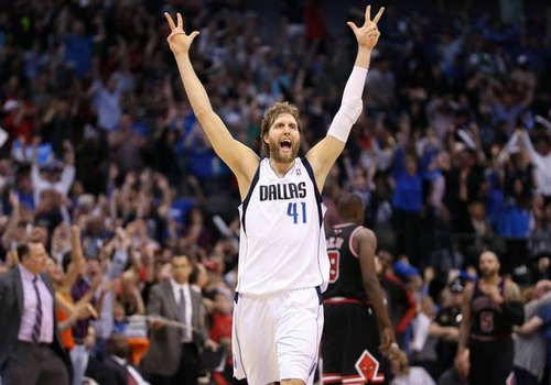 Dirk Nowitzki Leading NBA Point Scorers