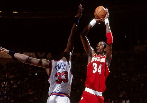 Hakeem Olajuwon Leading NBA Point Scorers