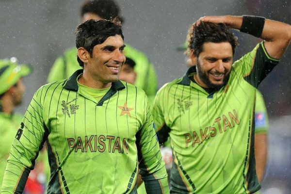 Afridi and Misbah ICC Cricket World Cup 2015 in Pictures