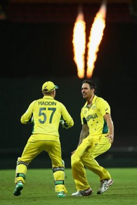 Mitchell Johnson ICC Cricket World Cup 2015 in Pictures