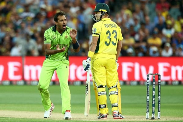 Wahab v. Watson ICC Cricket World Cup 2015 in Pictures