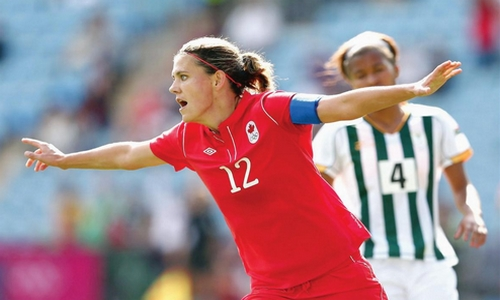 Christine Sinclair Best Female Strikers in FIFA Women's World Cup 2015