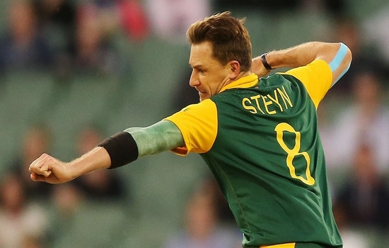 Dale Steyn Dale Steyn breaks the stumps of batsman