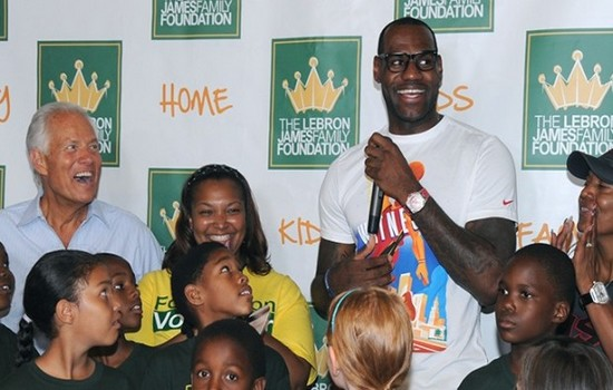 LeBron James most charitable athletes 2015