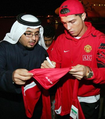 Rare Photos of Cristiano Ronaldo wih Sudi fan