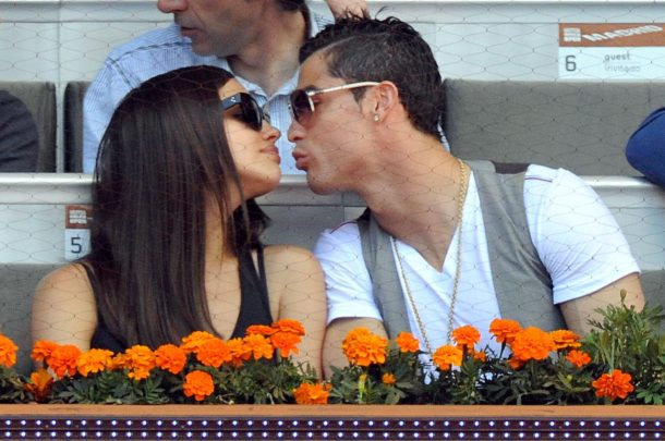 Cristiano Ronaldo with girlfriend Kissing Photo