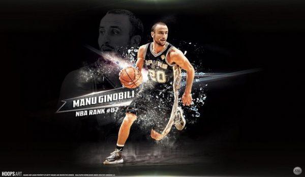 Manu Ginobili ,Top Ten Fastest NBA Players 2016