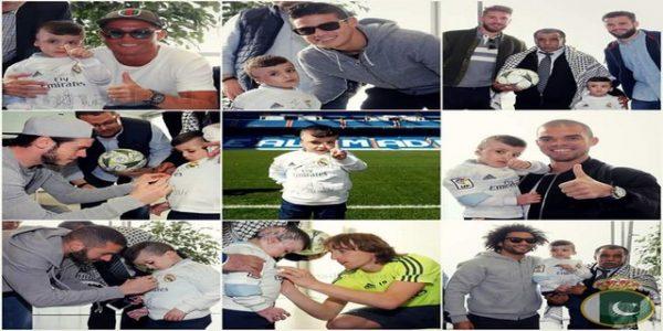 Real Madrid Meets Palestinian orphan Ahmed Dawabsha