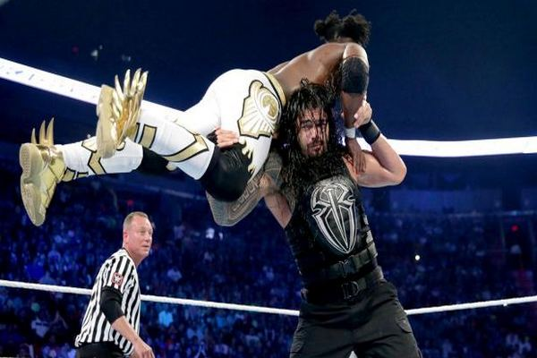 Rolling Reverse T-Bone Suplex Top 10 Moves of Roman Reigns