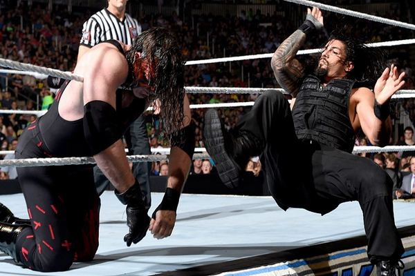 Running Apron Dropkick Top 10 Moves of Roman Reigns