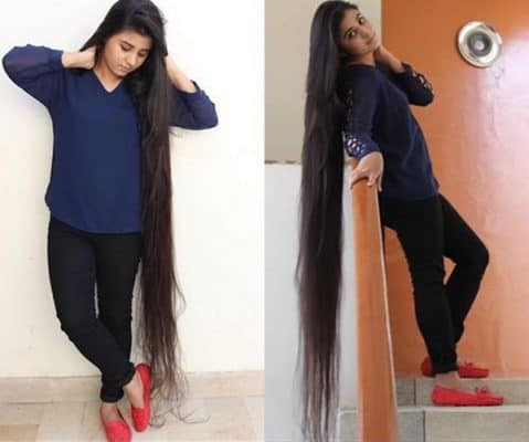 Pakistani Squash Champion Zahab Khan is the Longest Hair Athlete in the History