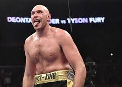 Tyson Fury And Boxing Greats In The Wrestling Ring